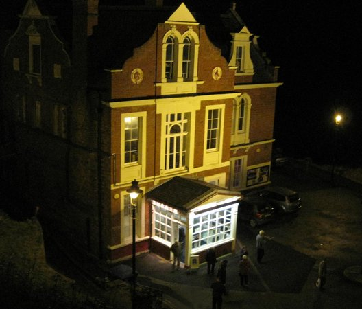 Whitby Pavilion at night.