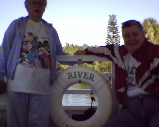 Indian River Lagoon and Swampland Boat Tours: My sister, Marie and myself