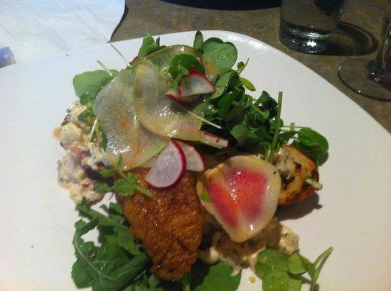 Bonfire Bistro : Monk fish and lobster aioli