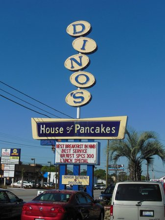 Dino's House of Pancakes: Vintage sign