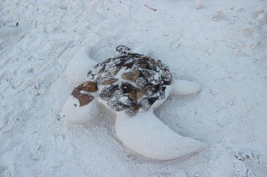 Captiva Beach Resort: sand sculptures