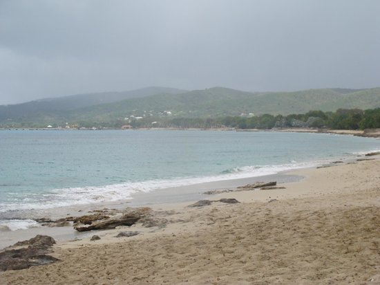 Sand Castle on the Beach: view of Frederiksted from beach