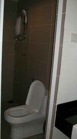 V Garden Hotel: shower/toilet