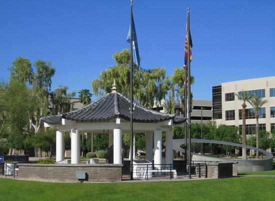 Wesley Bolin Memorial Plaza: Korean memorial & 911 memorial