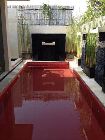 Kamuela Villas Seminyak: private pool with waterfalls