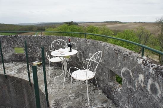 Chateau De La Cote: view from the private tower
