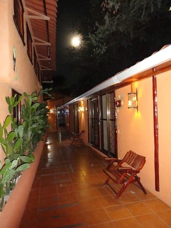 Rancho De La Playa: Full moon view from outside our room