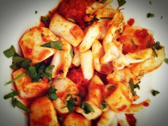Restaurante Safra 21: sepia con sobrasada y miel