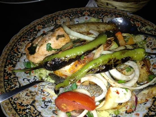 Topkapi: grilled fish with cous cous