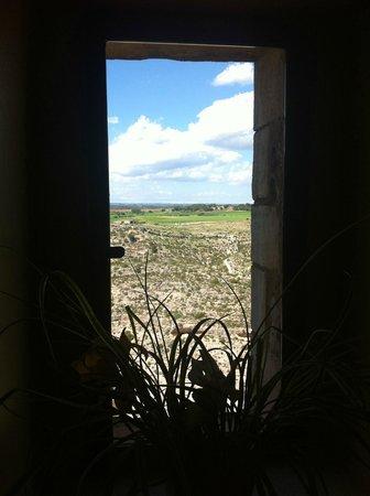 Parador de Alarcón: view from our desk