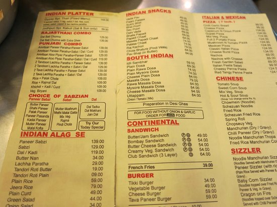 Gypsy Restaurant: Menu