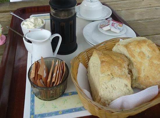 Puhoi Cottage Tea Rooms: The offending scones