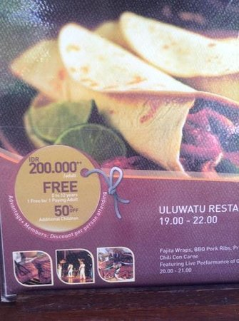 Cocos Beach Restaurant, Novotel Bali Benoa: false advertising extra kids must be 0-12 years only