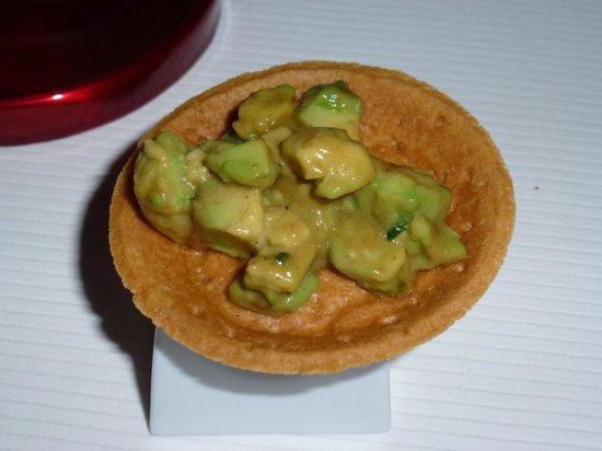 Reflets Par Pierre Gagnaire: mustard and avocado tart