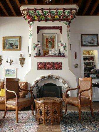 La Villa Ker Mat : l'incroyable cheminée du Salon