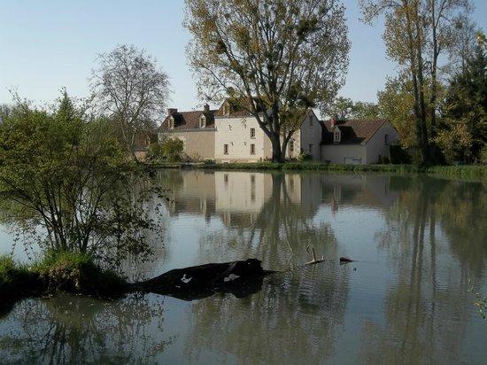 Moulin du Fief Gentil: LE MOULIN VUE DE LA BERGE