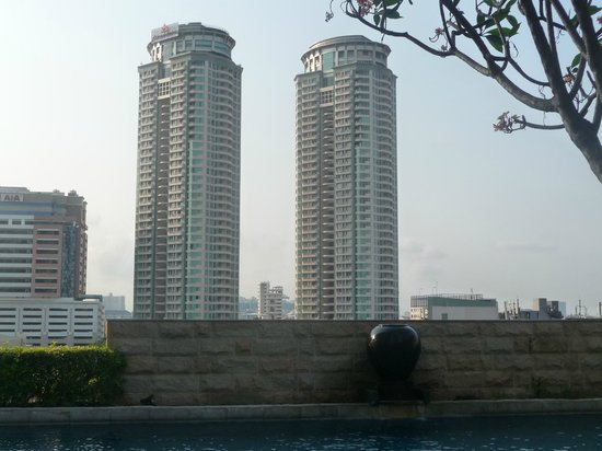 The Empire Place Condo: View from Pool Area
