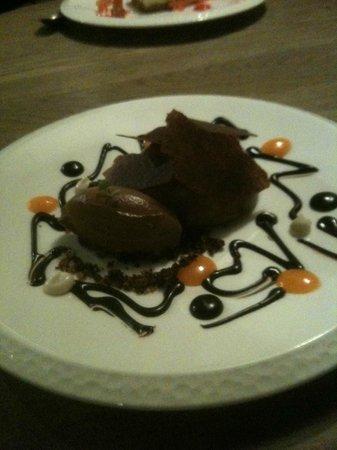 Peanut Mousse & Chocolate Sorbet (amazing)