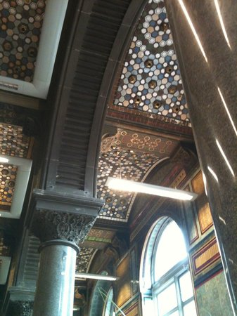 The Tiled Hall at Leeds Art Gallery: Cafe ceiling