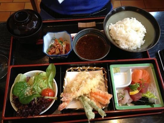 Sansui: menu bento avec tempura