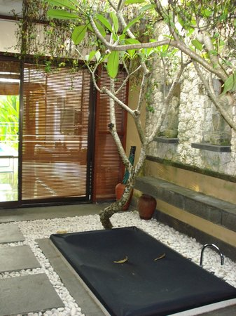 Ubud Green: courtyard with a jaccuzi