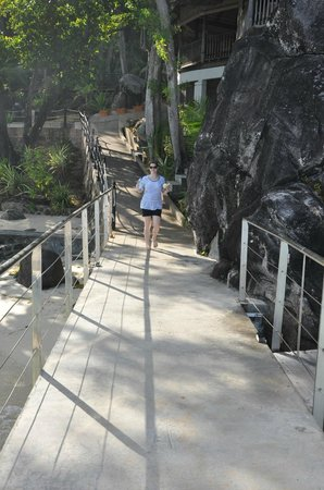 Cerf Island Resort: walking onto the jetty