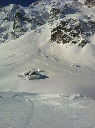 Pizol Ski Resort : We had a lot of snow.