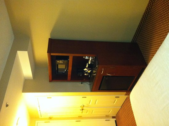 Hilton Garden Inn Chicago / Oakbrook Terrace : Microwave & fridge