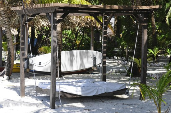 Off The Wall Dive Center & Resort : swing bed and stand up paddle board