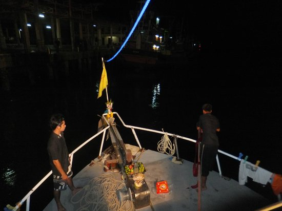 Eden Divers Khao Lak: Fireworks for a safe trip as we set out from Khao Lak