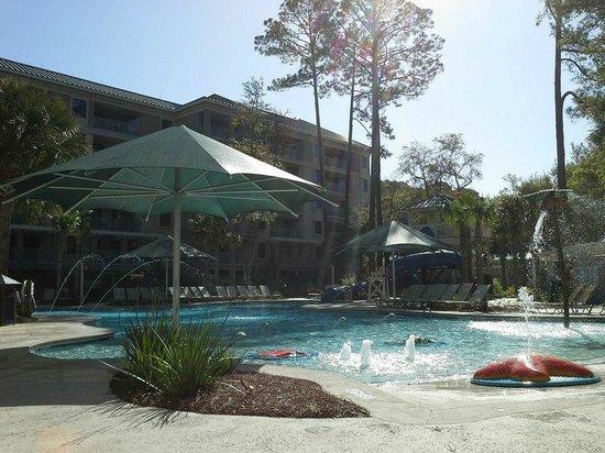 Marriott's Barony Beach Club: Kids water play area