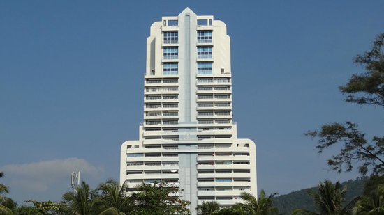 Patong Tower Holiday Rentals: Hotel View from Patong Beach