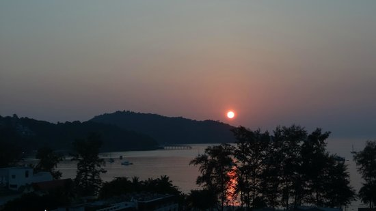 Patong Tower Holiday Rentals: Sunset view from room