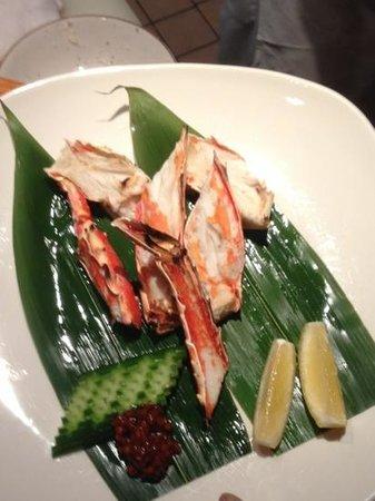 Ikeda: grilled king crab