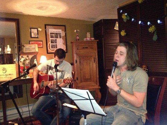 Vintage Paris Coffee and Wine Cafe: Spare Parts Band(my son and friend, Dakota)