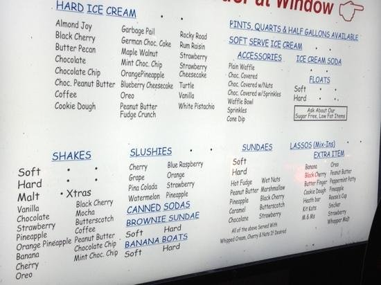 The Menu For The Drive Thru As Of 4 27 13 Picture Of
