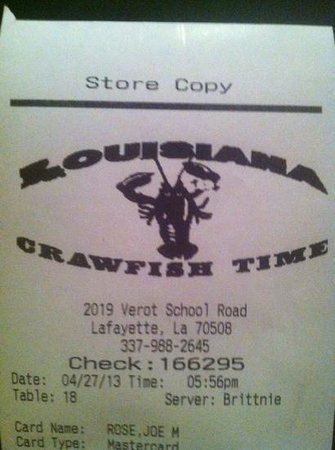 Louisiana Crawfish Time: address