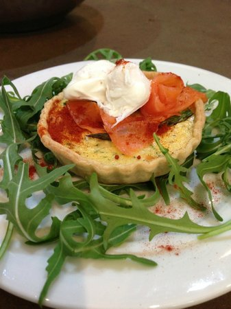 Food at 52: Smoked Trout and Asparagus Tartlet