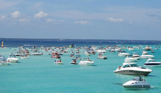 Crab Island Picture Of Destin Vacation Boat Rentals