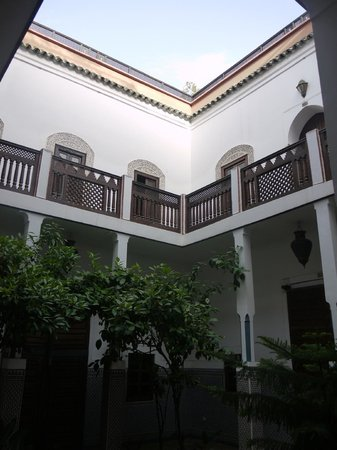 Equity Point Marrakech Hostel: One of the courtyards in the hostel