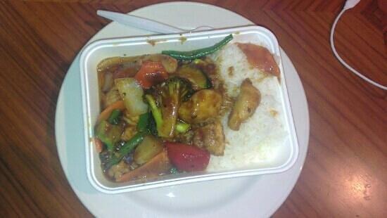 Cafe Soya: chicken in satay sauce