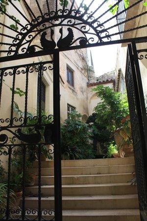 L'Orangerie - steps leading to main entrance