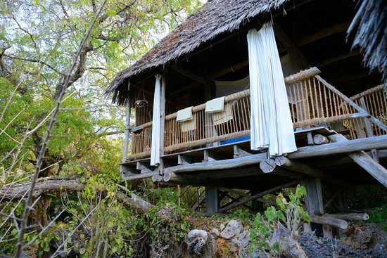Chole Mjini Lodge: The room from outside