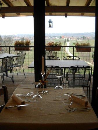 Al Postiglione: Vista dal ristorante