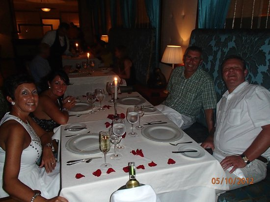 Excellence Playa Mujeres: French Restaraunt Dinner