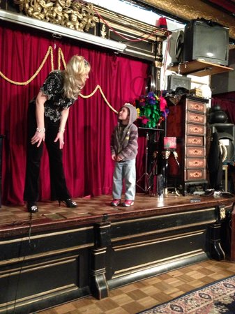 Houdini Museum: Caden with Dorothy Dietrich on stage at Houdini  Museum