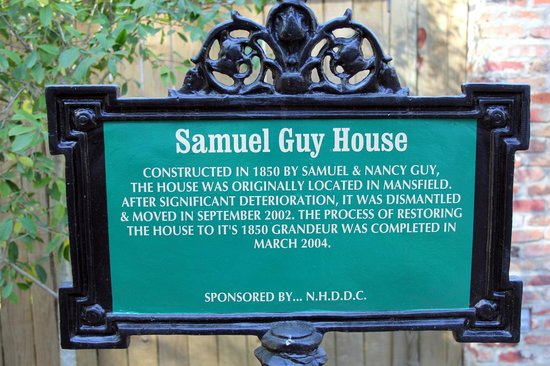 Samuel Guy House: Panneau d'accueil