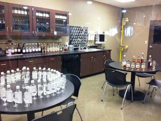 Wild Turkey Distillery: Lab area and never needing help for some reason.