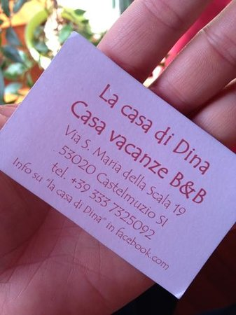 La Casa di Dina B&B: biglietto da visita