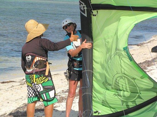Kitesurf Cayman: Jhon and myself